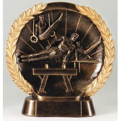 Gymnastics Male 3-D High Relief Trophy