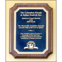 Rosewood Piano Finish Plaque - Sapphire Plate
