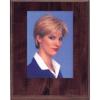 Photo Slide-In Cherry Veneer 8x10 Plaque with Engraved Plate