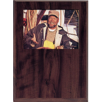 Photo Slide-In Cherry Veneer 9x12 Plaque with Engraved Plate