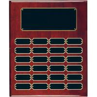 Piano Finish Rosewood Perpetual Plaque - 24 Black Plates